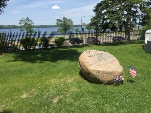 Wellstone stone at Lakewood